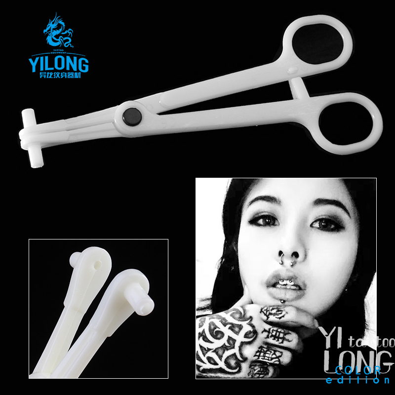 Yilong  Disposable Septum Forceps For Nose  sterilized by EO Gas Piercing Tools