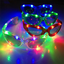 plastic flashing led glasses with flashlight glasses with led for party