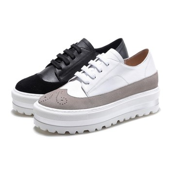 New Women Leather Shoes Casual Women