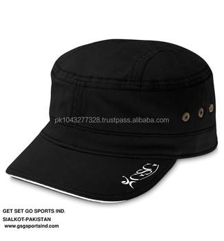 abc5311eab8 Black Sports Military Cap - Buy Plain Army Flat Cap