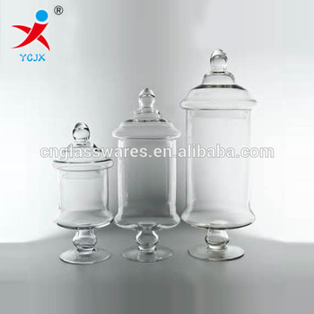 Decorative Glass Jars With Lids Home Decoration Large Clear Glass Storage Jar With Lids Buy 1