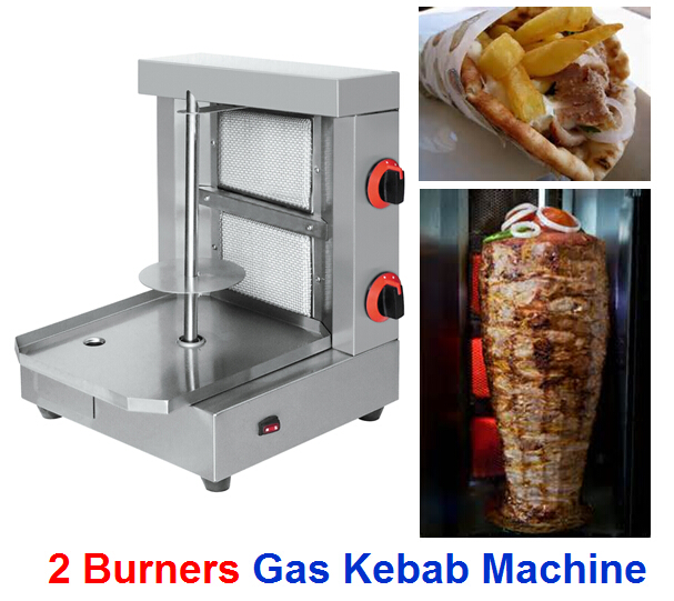 Tafelblad 2 infrarood branders gas kip seekh kebab machine bakken machine bn-ra02