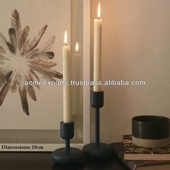 Aluminum Metal Candle Holder With Powder Coating Finish