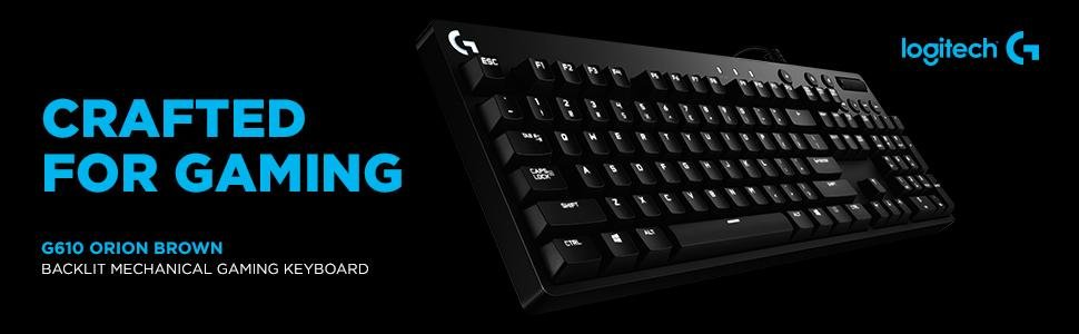 70dab649592 Logitech G610 Orion Red Backlit Mechanical Gaming Keyboard Gaming Keyboards  Computer Accessories & Peripherals