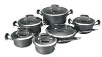 SA-12072 Hard Anodized Aluminum cookware Set / Casting hanlde Kitchenware Wholesale cookware