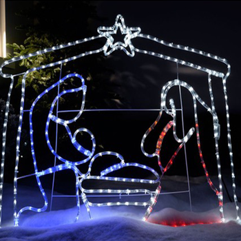 2d led silhouettes jesus christmas lights outdoor for lawn decorations