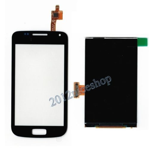 For Samsung Galaxy W I8150 Black Digitizer Touch Screen Panel Sensor Lens Glass + LCD Display  Monitor 100% Test