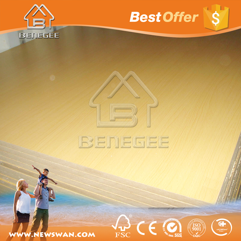 melamine faced mdf/ 3d mdf panels/ plastic coated mdf board