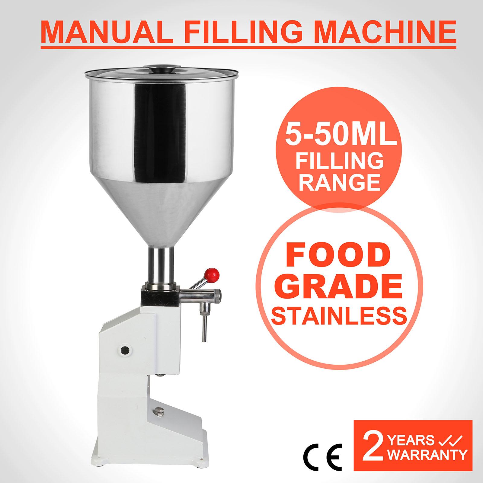 Stainless Steel Liquid Filler 5~50ml Manual Liquid Filling Machine A03