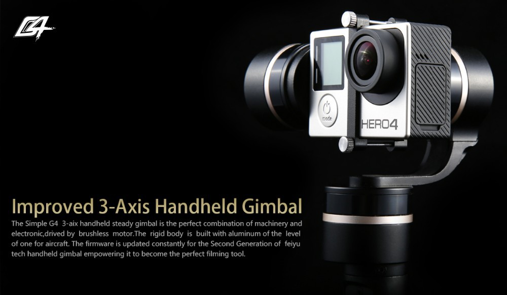 2015 feiyu camera gimbal motor stabilizer G4 3 AXIS handheld gimbal HANDHELD STEADY GIMBAL For gopro 4 AEE sj4000 sj5000