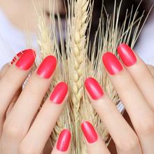 Nailest 24 шт. овальные накладные ногти, прозрачные пластиковые мягкие розовые накладные ногти, карамельные короткие Типсы для ногтей(Китай)