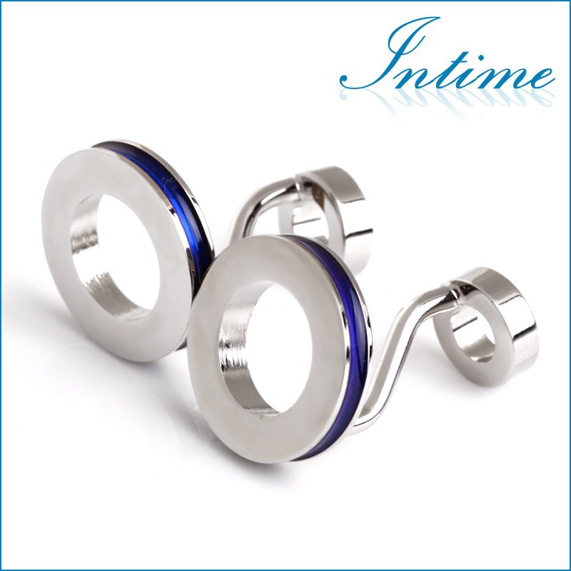 Rare Unique Novelty Abstract Double Ring Circles Cufflinks Men's Wedding Groom Shirt Suit Cuff Links New