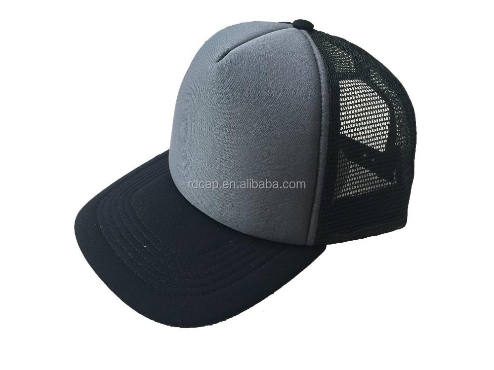 ee73d92c43b Factory Flexfit Custom Logo Streetwear Foam 2-color Trucker Cap Grey Black  Mesh Cap - Buy Cotton Mesh Cap,Alibaba Express China,Winter Cotton Hats ...