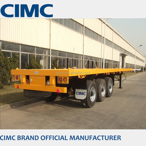 CIMC 40ft flatbed trailer with super single tire 385/65R22.5