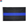 Thin Blue Line Flag 3x5 Feet Printed Flag with Grommets for Police and Law Enforcement Memorial Station