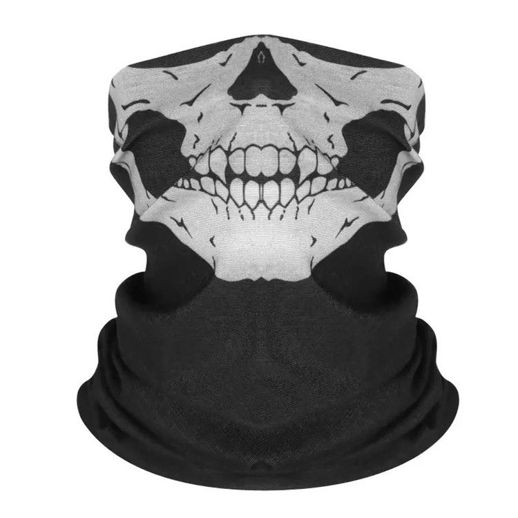 <strong>Black</strong> Skull Printing Face <strong>Bandana</strong> Tube Mask Neck Shield Seamless Tube <strong>Bandana</strong>