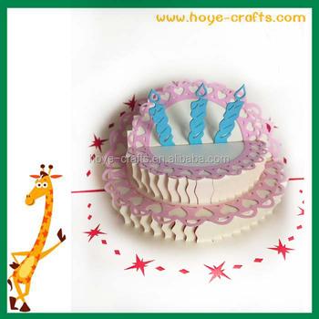 Handmade 3d Birthday Cake Pop Up Greeting Card Buy Greeting Card