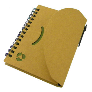 FSC spiral notebook craft paper cover and craft page notebook cheap notebook with pen