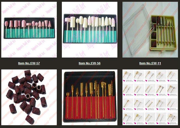 Nails Art Electric Files Drill Bits Replacement Kit Salon Tool Set ...
