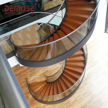 Superieur The Best Selling Glass Spiral Stair/ Wooden Staircase   Buy Glass Spiral  Stair,Wooden Staircase,Car Armrest Product On Alibaba.com