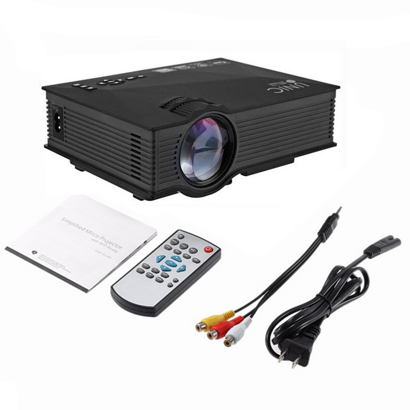 UC46 Wifi Projector 1200 Lumens 800x480 Resolution Support HD 1080P Mini Portable LCD LED Home Theater Cinema Projector