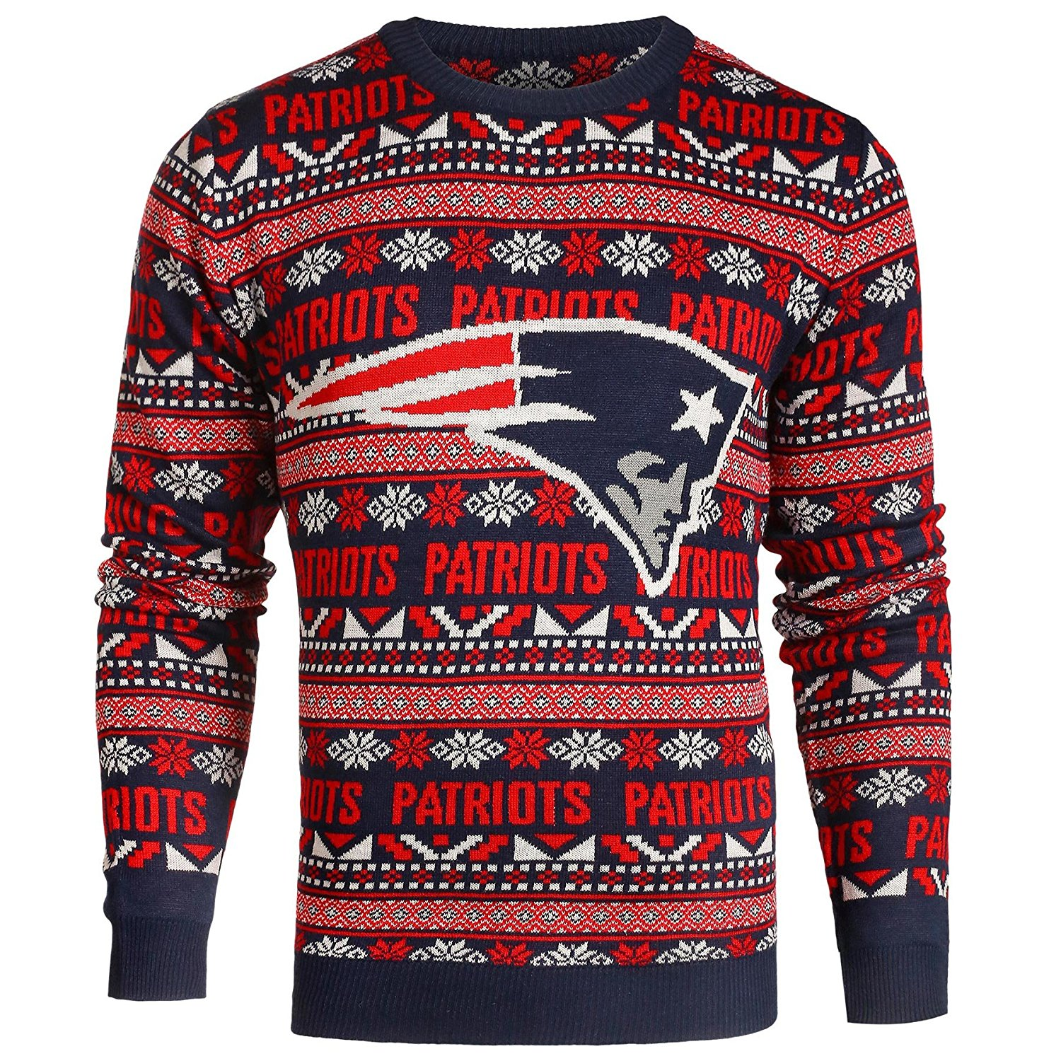 5d4a89d12cee1 Buy New Era New England Patriots Christmas Sweater Chill Sport Knit ...