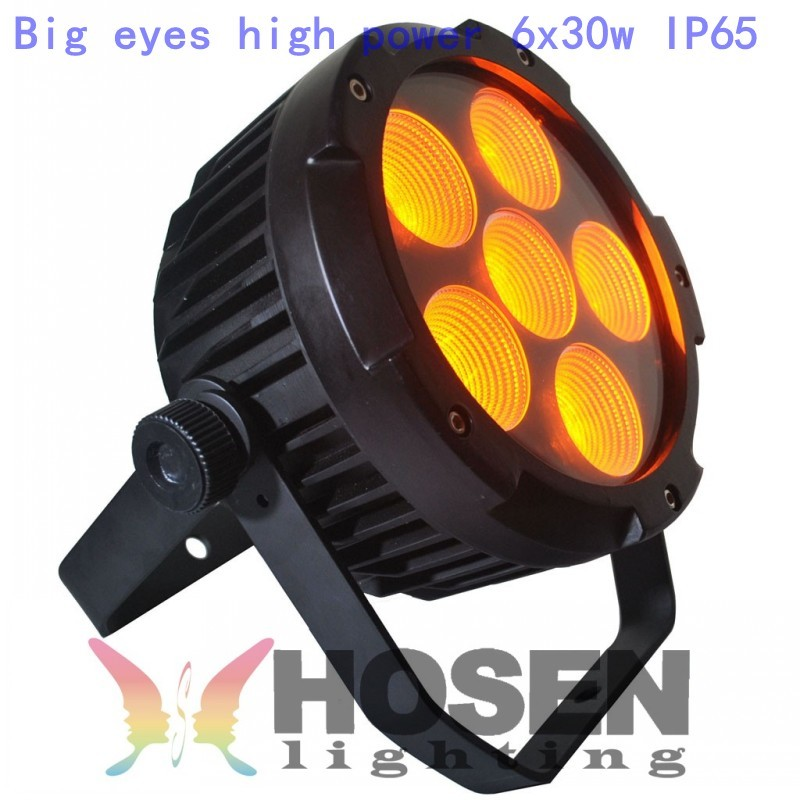 Big eyes 6X30W RGBWA 5in1 Waterproof led par light High power Free shipping