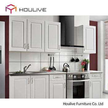 2017 Popular Color White America Pvc Laminate Kitchen Old Style