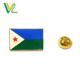 OEM Design hot sales Zinc Alloy Metal Djibouti Country Flags Wholesales Soft Enamel Pins