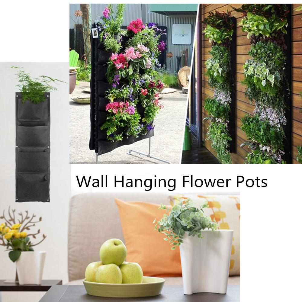 d corative suspendus vase pot de fleur mural tissu. Black Bedroom Furniture Sets. Home Design Ideas