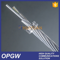 36 Core Excellent Mechanical Performance HUIYUAN OPGW Optical Fiber Cable Price
