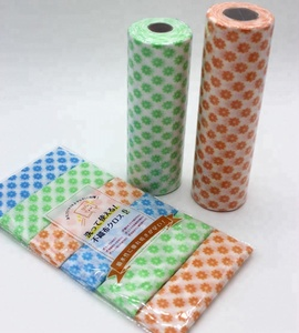 Spunlace Nonwoven Cross Lapping Household Water Absorbent Disposable Polyester Rayon Cleaning Cloth