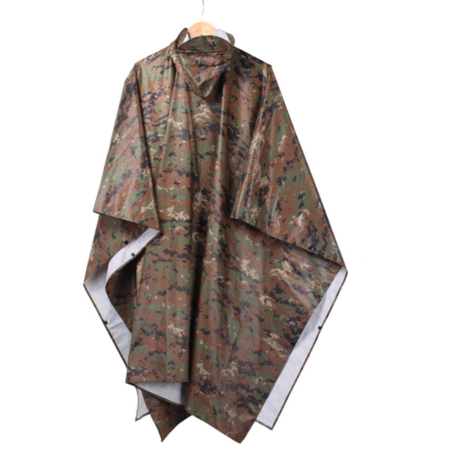 Waterproof Breathable Customized Wholesale Military Outdoor Army Rain Poncho For Men