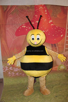 2017 customized bee character mascot costume Popular lovely honey bee animal mascot costume for adults
