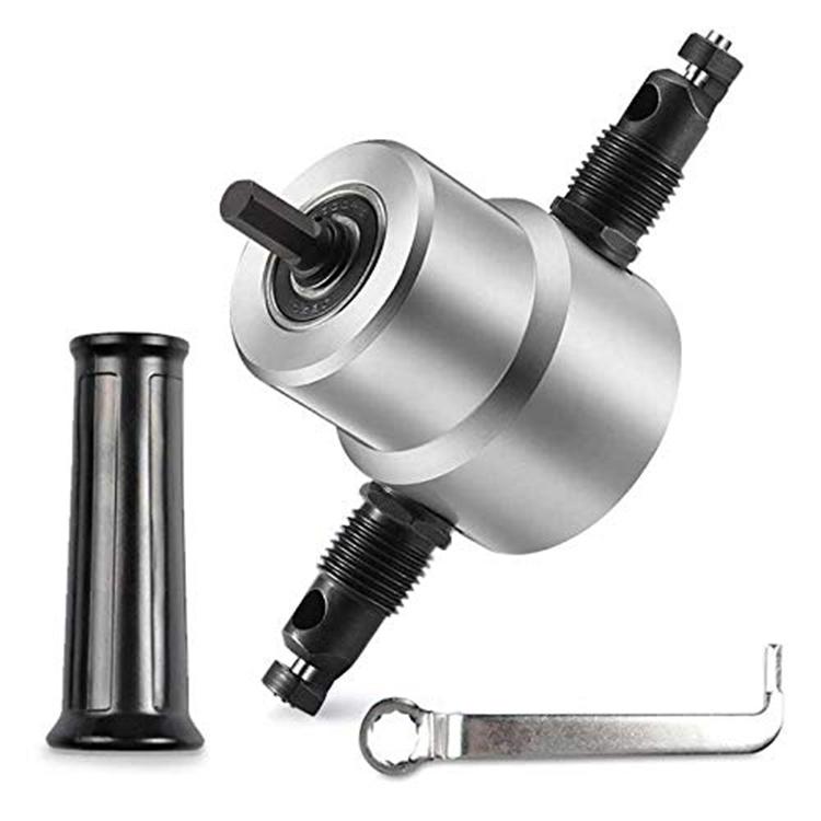 Ningbo 360 องศาปรับแผ่นโลหะ Double Head Nibbler Cutter Drill Attachment Parts