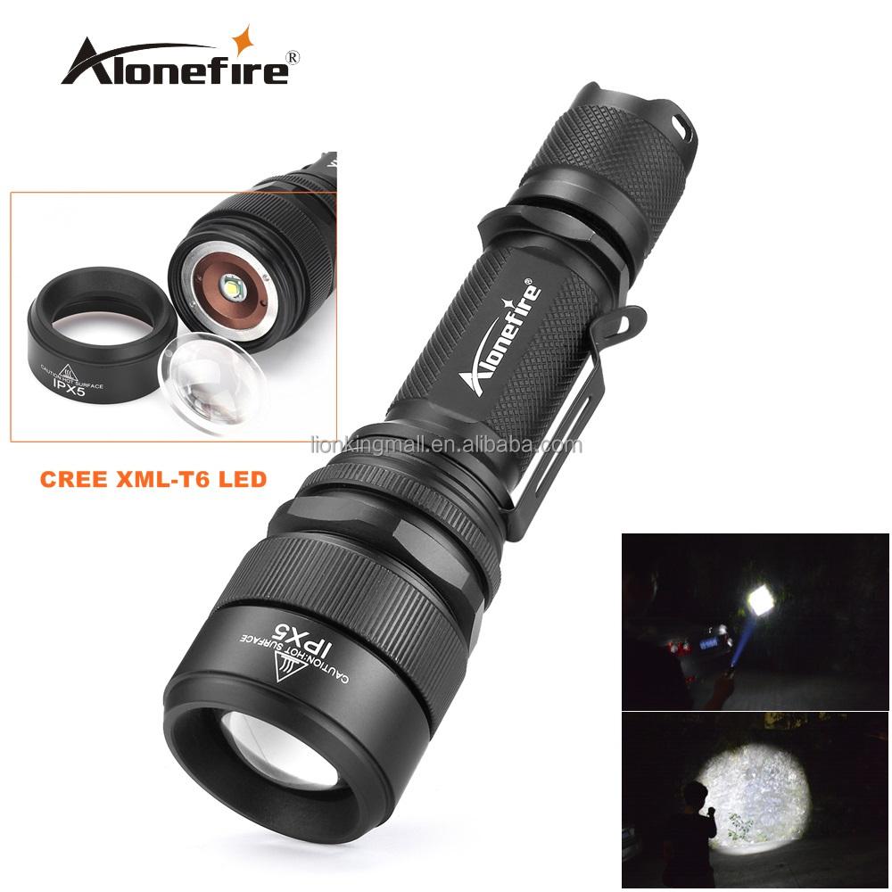 Alonefire Led Torche Xml T6 Réglable Au G910 Zoom Mise Étanche AL5Rj4