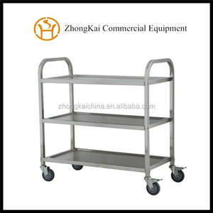 Mobile Stainless Steel Restaurant Food Catering Service Transport Trolley/Tea Cart for Kitchen
