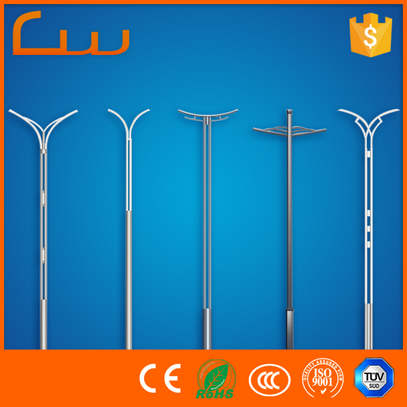 Factory suppliers decorative fiberglass street lighting pole