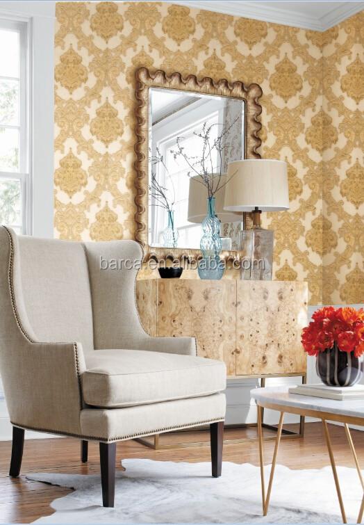 Pvc luxus tapeten geprägte italienisches design für wohnzimmer ...