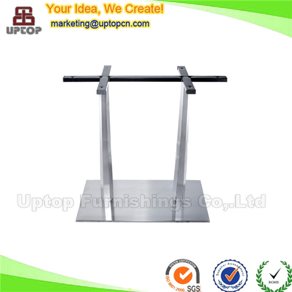 Modern stainless steel table base for rectangle dining table (SP-STL025)