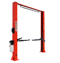 New model 2 post auto lifts with single side manual lock release