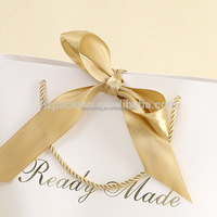 china factory custom high end fancy eco friendly gift paper bag with ribbon handles