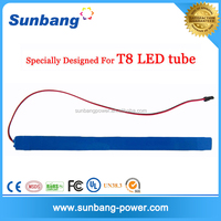 high quality mini 12v 1200mah rechargeable battery 12v dc battery pack for led tube light t8 battery