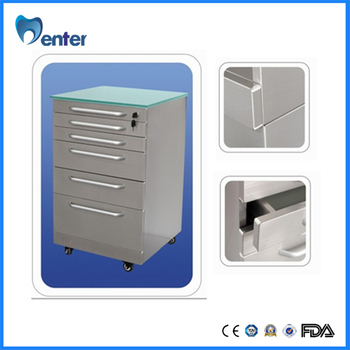 Charmant Dental Equipment GD010 Glass Mobile Dental Cabinet