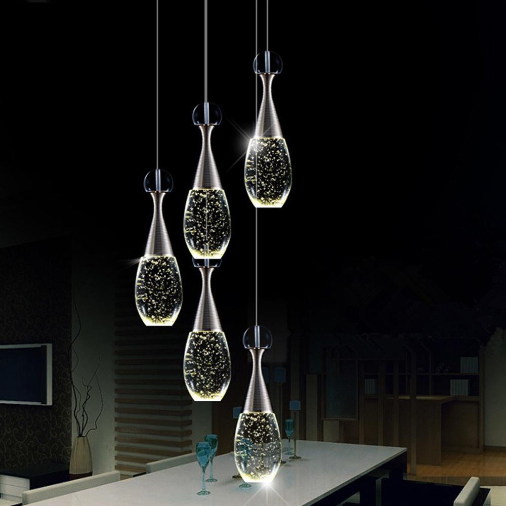 Moderno accesorio de iluminaci n led de la burbuja de luz - Colgantes de cristal para lamparas ...