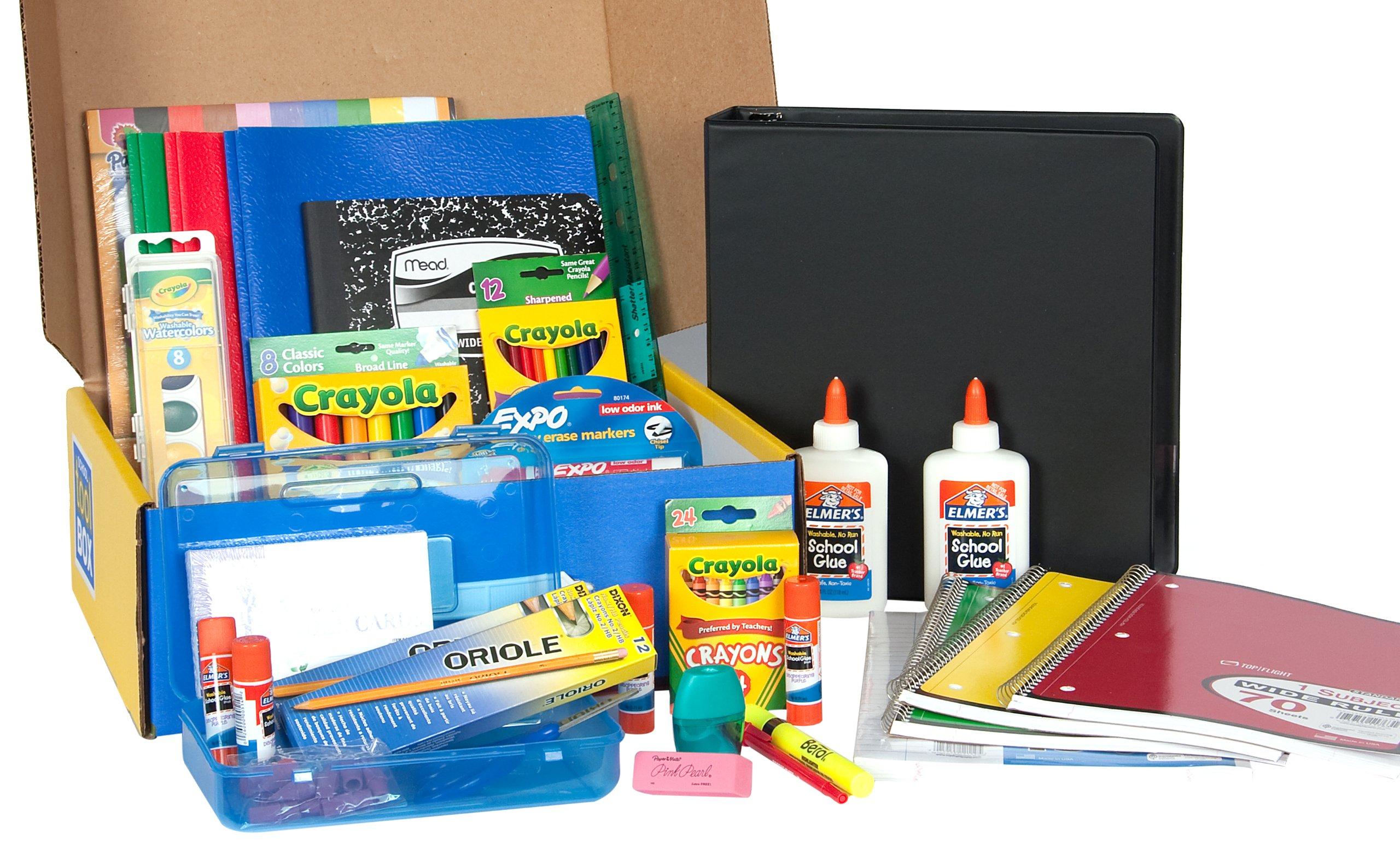 School Tool Box Second Grade Mega School Supplies Kit in Keepsake Box
