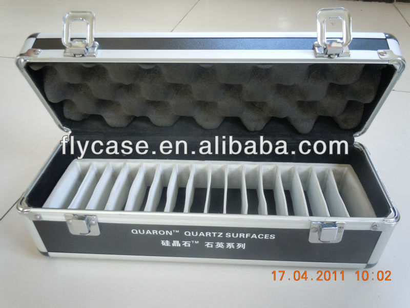 customized aluminum display case carrying aluminum sample case aluminum tile sample case