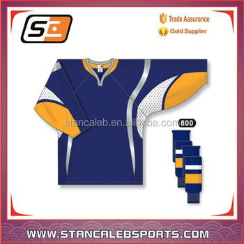 Stan Caleb Latest customized youth polyester ice hockey jersey blackhawks  design european hockey jerseys cheap 33e147c6421