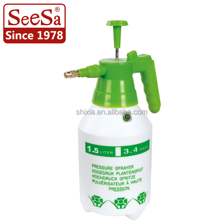 1.5L Plastik Semprotan Pompa Kompresi Pulverizador Tangan Manual Sprayer Pompa Industri Sprayer
