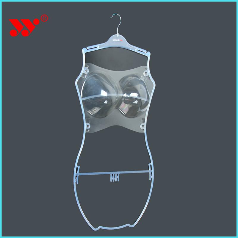 Custom sport marca corpo chiara forma lingerie plastica grucce costumi da bagno gruccia id - Grucce per costumi da bagno ...